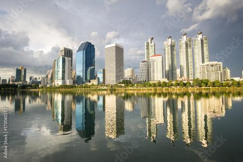 In de dag Bangkok cityscape of bangkok city , landscape Thailand