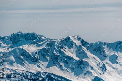 Aluminium Landschappen Winter mountain landscape. Krasnaya Polyana, Sochi, Russia