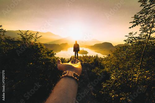 Fotobehang Diepbruine Lake Bled, Slovenia