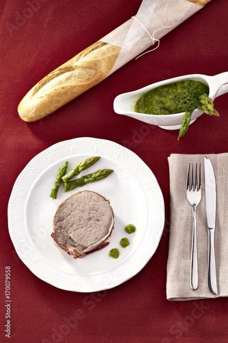 piatto di carne Poster