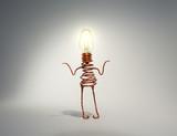 light globe idea robot shrugging - 170089508