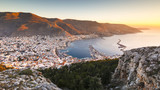 View of the Kalymnos town early in the morning, Greece.  - 170102762