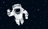 Astronaut in outer space concept vector illustration in flat style - 170104169