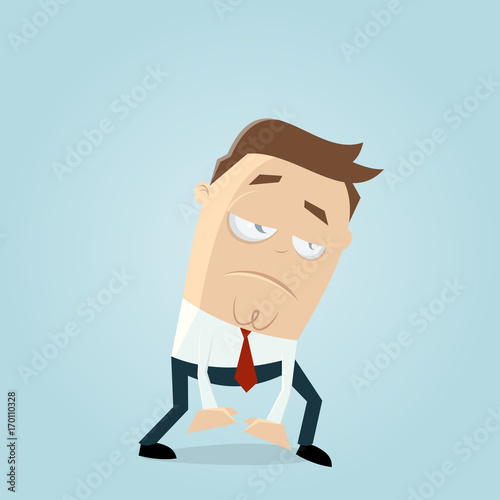 exhausted or tired businessman