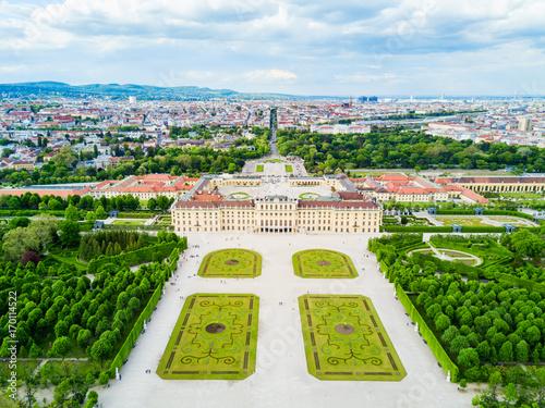 Schonbrunn Palace aerial, Vienna