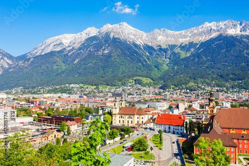 Innsbruck aerial panoramic view