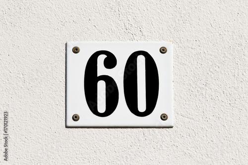 Poster Hausnummer 60