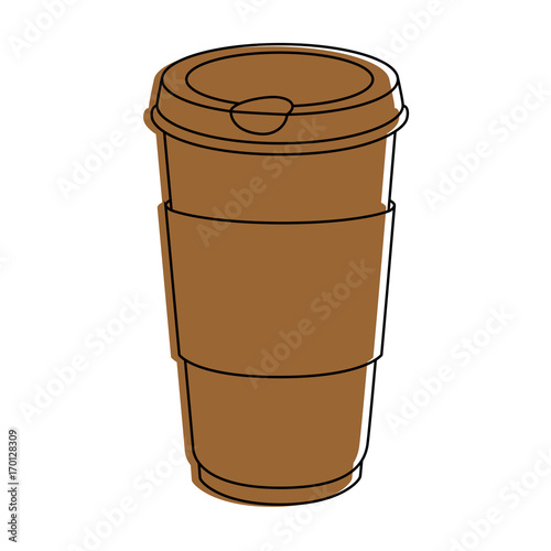 Poster Coffee to go icon vector illustration graphic design