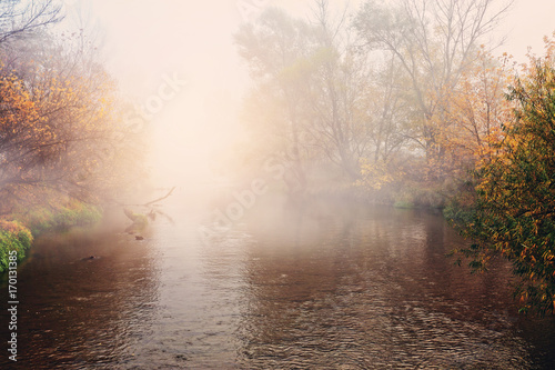 Autumn scenery - flowing river