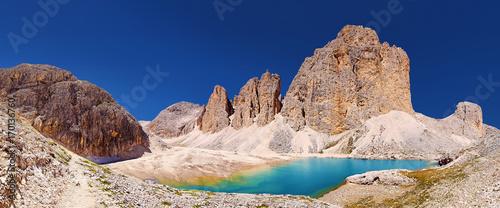 Foto op Plexiglas Bergen Lago d'Antermoia - Catinaccio Rifugio Antermoia