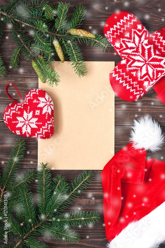 Christmas composition with holiday decoration