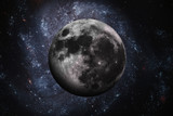 Solar System - Earths Moon. The Moon is Earth's only natural satellite. Elements of this image furnished by NASA