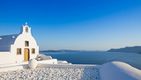 Small traditional Greek Orthodox church in Oia, Santorini - 170148130
