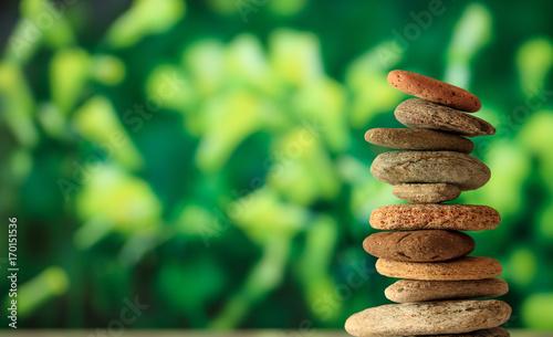 Fotobehang Zen Zen stones stack on abstract background