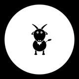 goat cartoon simple silhouette black icon eps10
