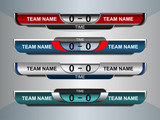 Scoreboard Broadcast Graphic and Lower Thirds Template for soccer and football, vector illustration - 170157384