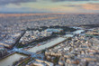 River Seine in the spring with tilt-shift effect