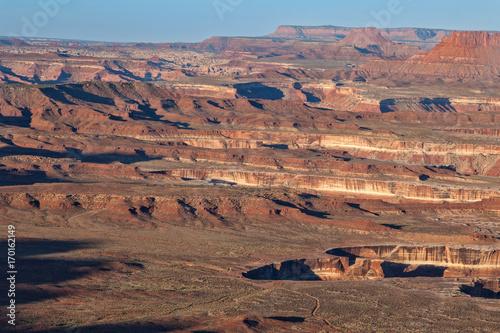 Fotobehang Cappuccino Rugged Canyonlands National Park Utah Landscape