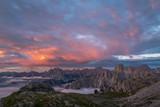 Sunrise in Dolomites