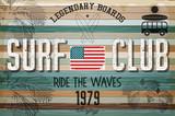 Retro Grunge Surfing Poster - 170164950