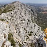 the Sainte-Victoire mountain, near Aix-en-Provence, which inspired the painter Paul Cezanne