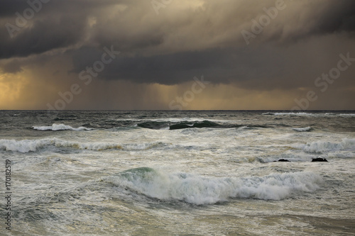 Seascape before rain and storm