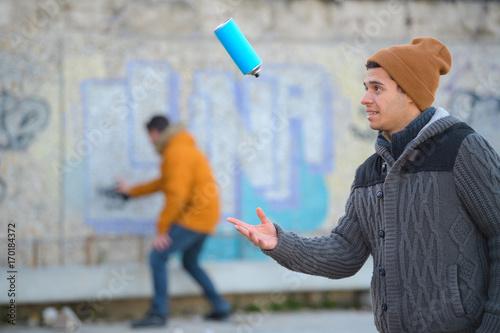 Aluminium Graffiti playful graffiti artist