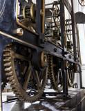 Old mechanism of a big tower clock. cogwheels in the clock - 170189949