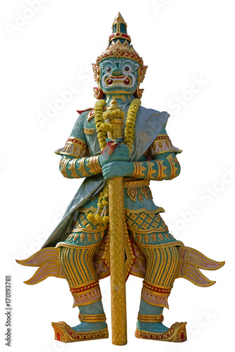 Fotobehang Bangkok Thai Giant guardian bangkok isolated on white background