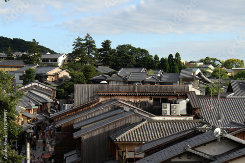 The residential (and traditional) area of Kyoto, Japan