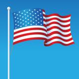 USA Flag On Pole - 170200516