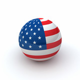 USA Flag Sphere 3D - 170200558