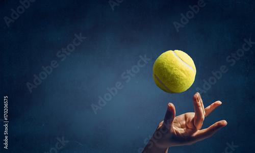 Fotobehang Tennis Big tennis concept