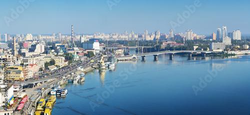 Fotobehang Kiev Cityscape of Kiev in early morning