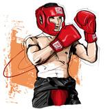 Thai boxing man fighting - 170212151