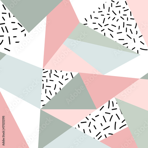 Abstract geometric pattern or background. Scandinavian style. Poster, card, textile, wallpaper template. - 170212198