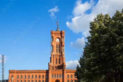 Berlin - Rotes Rathaus Poster