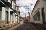 cobblestone street in Honda Colombia