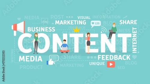 Content concept illustration.