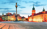 Fototapety Panorama of Warsaw old town, Poland