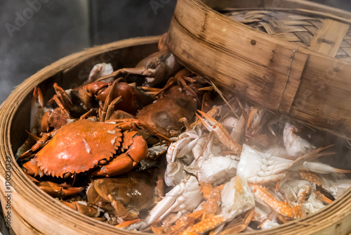 Deurstickers Shanghai steam crab