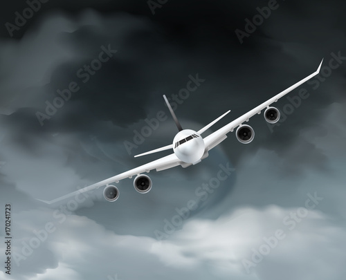 Dark Weather Aircraft Composition
