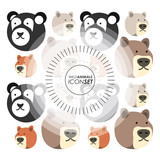 wild animals icon set over white background colorful design vector illustration