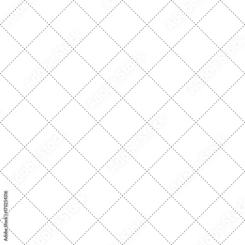 Black Dash Square Diamond Seamless on White Background. Vector Illustration - 170254316