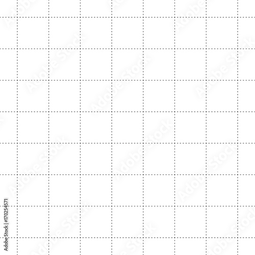Black Dash Square Seamless on White Background. Vector Illustration - 170254571