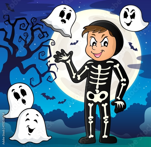Aluminium Voor kinderen Boy in Halloween costume theme image 3