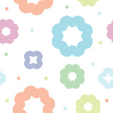 vector seamless children colorful abstract pattern