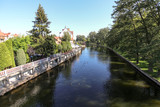 Pisa river in Pisz, Poland on a summer day.