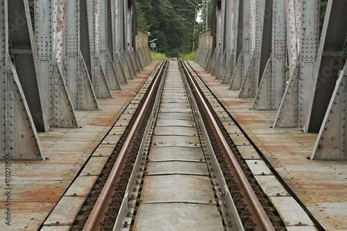 Fotobehang Bruggen Old Railroad Bridge