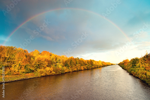 Fotobehang Pool autumn in East Frisia
